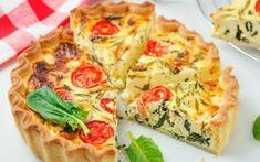 Τάρτα με σπανάκι, φέτα και ντοματίνια Quiche, Breakfast, Food, Morning Coffee, Quiches, Meals, Morning Breakfast, Custard Tart