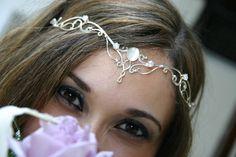 Bridal Circlet Elven Crown Headpiece Celtic Wedding by ElnaraNiall Headpiece Jewelry, Head Jewelry, Medieval Wedding, Celtic Wedding, Bride Hair Accessories, Fashion Accessories, Circlet, Bijoux Diy, Tiaras And Crowns