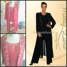 Wholesale Mother of the Bride Pant - Buy 2014 Elegent Chiffon Mother of the Bride Pant Suits Beaded Collar Long Sleeve Crew Mother of the Bride Dresses 2014 Evening Dresses, $107.82 | DHgate