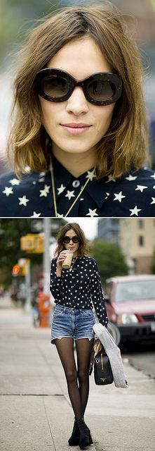 Simple and easy outfit inspiration. (Alexa Chung)