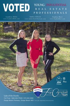 3 of our agents voted influential real estate agents at Lake of the Ozarks, Missouri 2020 Osage Beach Mo, Estate Agents, Missouri, Amber, Real Estate, Real Estates, Ivy