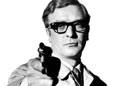 Michael Caine with Oliver Goldsmith glasses