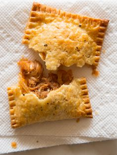 BBQ Pulled Pork Pop Tarts - This cream cheese dough looks amazing.  a crowd pleaser, appetizer for game day, parties, get togethers. Save time, buy ready made BBQ Pulled pork.