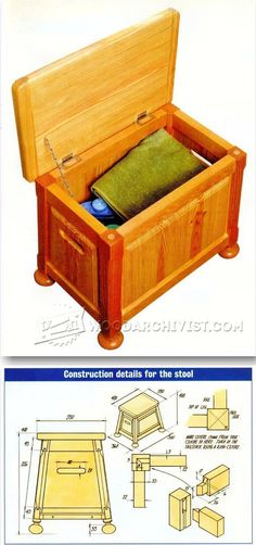 Bathroom Stool Plans - Furniture Plans and Projects | WoodArchivist.com