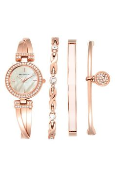 Anne Klein Boxed Bracelet & Bangle Watch Set, 24mm available at #Nordstrom
