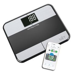 WiTscale S1 Stainless Steel Body Fat Bluetooth Smart Digital Bathroom Scale with Large Backlit Display and Step-On Technology for Galaxy S6, samsung Note5 , iPhone6S(support Apple HealthKit) and iPad Air2 * You can find more details by visiting the image link.