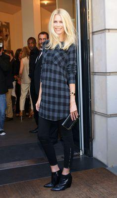 Claudia Schiffer Leggings - Claudia Schiffer Looks - StyleBistro