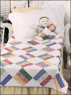 Quilting - Patterns for Children & Babies - Bed Quilt Patterns - Scrappy Baby Quilt & Happy the Clown