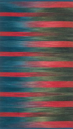 """""""Flaming Gorge"""" wool ikat rug by Connie Forneris"""