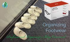 Lots of storage ideas and tips for maintaining and organizing footwear, submitted by professional organizers. Business Organization, Closet Organization, Organizing, Professional Organizers, Drop Zone, Shoe Organizer, Store Design, Carnival, Footwear