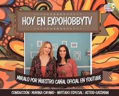 HOY en EXPOHOBBY TV: Nos visita Astrid Gassman para enseñarnos a sublimar sobre diversas superficies. #ExpohobbyTV #Sublimación #Superficies #OndaRetro #Míralo #EnYoutube #DecoraTusAmbientes #Transferencia #Laminas