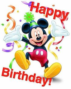 Mickey Mouse Birthday Quotes by El cumpleaños Birthday Greetings For Nephew, Free Happy Birthday Cards, Happy Birthday Nephew, Happy Birthday Wishes Photos, Happy Birthday Celebration, Birthday Wishes Messages, Happy Birthday Wishes Cards, Happy Birthday Funny, Disney Happy Birthday Images