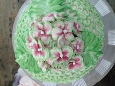 Hydrangea  Flowers in  Butter Cream- Cake Decorating