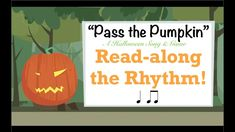 """This is a Read-along video of Rhythms for the Halloween song/game """"Pass the Pumpkin"""". Great way to practice reading Ta and Tadi in a fun way for this season. Elementary Choir, Elementary Music Lessons, Music Lessons For Kids, Kindergarten Lessons, Movement Activities, Music Activities, Music Games, Halloween Songs, Halloween Activities"""