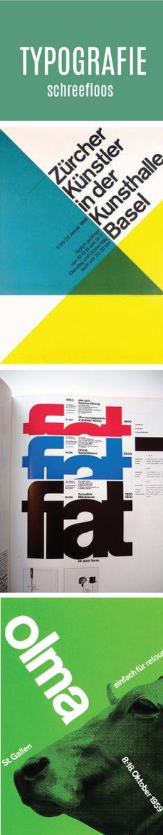 De fonts die worden gebruikt zijn vaak helvetica of univers. Dit zijn schreefloze fonts