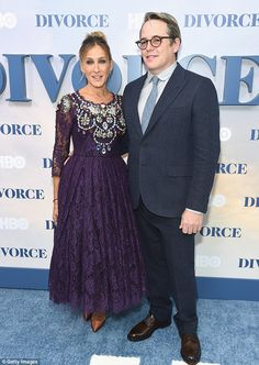 By her side: Sarah Jessica Parker was supported by husband Matthew Broderick at the premie...