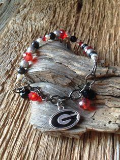 UGA Bracelet: Georgia Bulldogs bracelet Georgia G chain