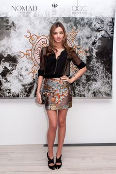 Miranda Kerr wore a Fall 2012 Proenza Schouler skirt at the Nomad Two Worlds book launch in New York. Description from pinterest.com. I searched for this on bing.com/images