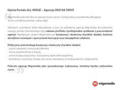 Opinia Portalu ALL IMAGE - Agencja OKO NA ŚWIAT #migomedia