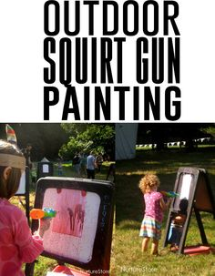 Outdoor squirt gun painting - Andrea's Notebook