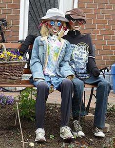 girl gardener scarecrow | Family Scarecrow Ideas, Parents & Kids Scarecrow Ideas