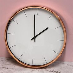 Kmart - new clock for main area, bit of copper. Copper Home Accessories, Bookcase Styling, Study Design, Types Of Carpet, Sofa Upholstery, Handmade Copper, Round Mirrors, Copper Color, Sofa Set