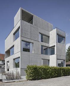 wild bär heule Architekten - Sichtbetonhaus mit Industriemauerwerk