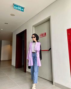 Casual Hijab Outfit, Ootd Hijab, Casual Winter Outfits, Street Hijab Fashion, Muslim Fashion, Teen Fashion Outfits, Look Fashion, Modesty Fashion, Hijab Fashion Inspiration