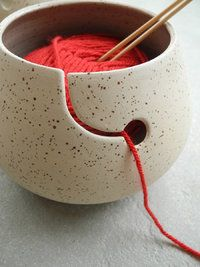 Yarnbowl - Rock - Cream with spots - Glazed inside. - Claybody: Creme Spikkel - Glazed: Glazed only inside   $53.89 *