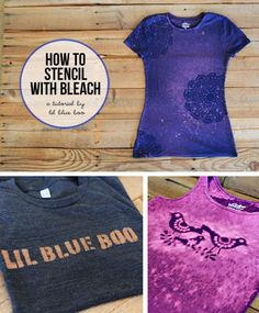How to Stencil with Bleach via lilblueboo.com