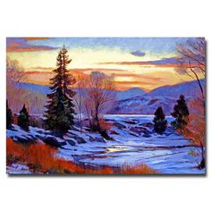 """Found it at Wayfair.ca - """"Early Spring Daybreak"""" by David Lloyd Glover Painting Print on Canvas"""