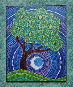 Print coloré laminé sur bois Poirier par ElspethMcLean sur Etsy