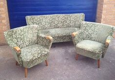SU5 Lovely Vintage Modern 1960's Cocktail Suite Sofa 2 Cocktail Arm Chairs   eBay so neat