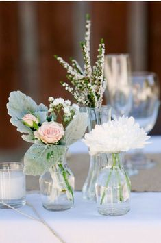 Image result for TINY VASES IN TABLESCAPE