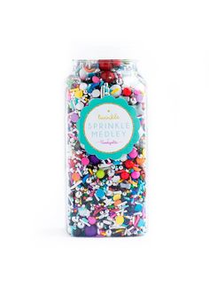 GLAM ROCK Twinkle Sprinkle Medley is a premium, one of a kind mix of some of the spectacular and most glam-rock-inspired sprinkles…