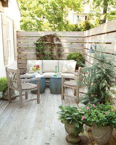 Pergola For Small Backyard Small Outdoor Spaces, Outdoor Rooms, Outdoor Living, Outdoor Furniture Sets, Outdoor Decor, Adirondack Furniture, Wooden Furniture, Small Patio Furniture, Furniture Redo