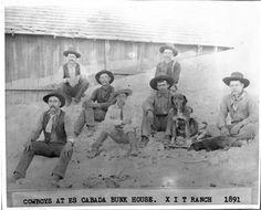 XIT Ranch Cowboys Es Cabada Bunk House 1891