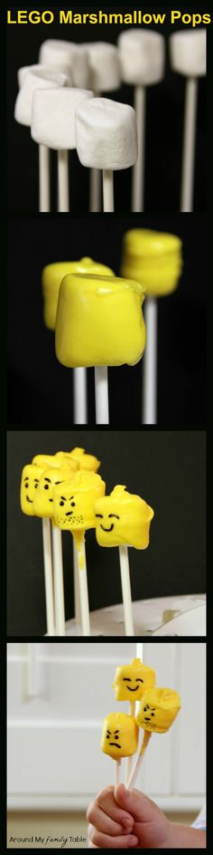 These Lego Marshmallow Pops are the perfect addition to any lego party, plus they make a great kid friendly party activity.