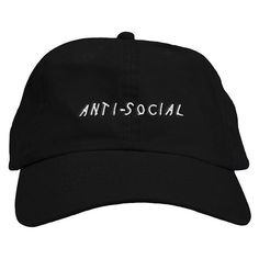 Our ultra comfortable dad hats have a relaxed fit, curved bill and embroidered Anti Social on the front. The adjustable...