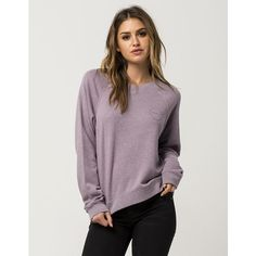 Rvca Circle Sketch Womens Sweatshirt ($28) ❤ liked on Polyvore featuring tops, hoodies, sweatshirts, raglan sweatshirt, long sweatshirt, rvca sweatshirt, rvca and long tops