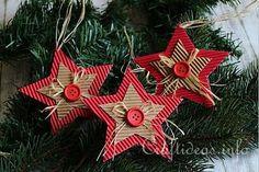 Corrugated Cardboard Christmas Star Ornament 2