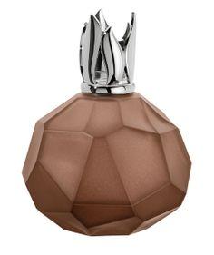 Cristal de roche marron glacé. Une lampe en verre d'inspiration minérale