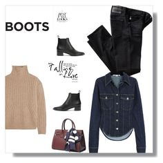 """""""Boot me up!"""" by peeweevaaz ❤ liked on Polyvore featuring AG Adriano Goldschmied, Totême, H&M, outfit, polyvoreeditorial, WardrobeStaples and polyvorefashion"""