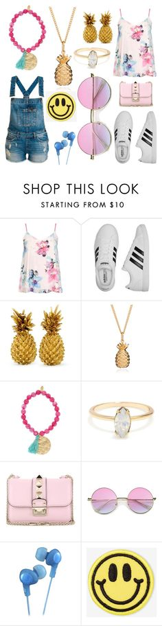 """friends challange"" by cherlina-nelemans2003 on Polyvore featuring mode, Dorothy Perkins, adidas, Ashiana, Valentino, JVC en Big Bud Press"