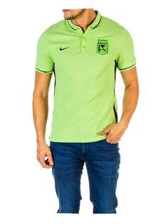 Camiseta Nike Polo Presentación Verde Fosforescente Atlético Nacional 2016