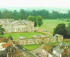 At the eastern end of the High Street is Kimbolton Castle. It is here that Katherine of Aragon [first wife of Henry VIII]  died in 1536. The castle was once the home of the Dukes of Manchester but is now owned by Kimbolton School.