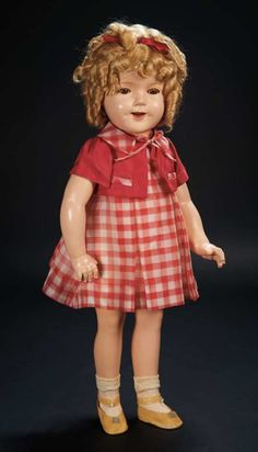 Ideal 1930/'s Shirley Temple Composition Doll Reproduction Pin Lot of 4 Custom