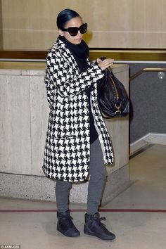 Her trademark: Nicole Richie, 33, was spotted wearing a particularly large pair of cat-eye...