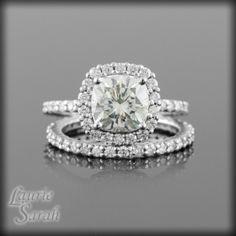 Cushion Diamond Engagement Rings Halo Setting 33
