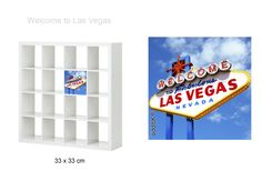 """Sticker repositionnable EXPEDIT door 33X33 (Ikea's furniture) """"Welcome to Las Vegas"""" $9  http://www.additik.com/index.php"""